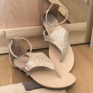 Shoes - *SUMMER SALE* Snakeskin print sandal flats NWB